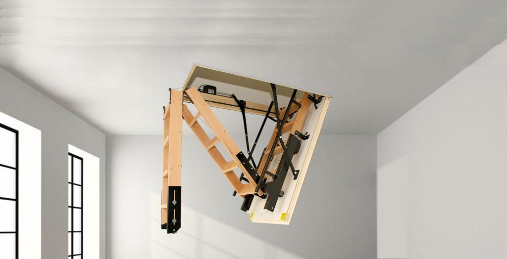Electric Loft Ladders 183 Folding Loft Ladders From Skylark