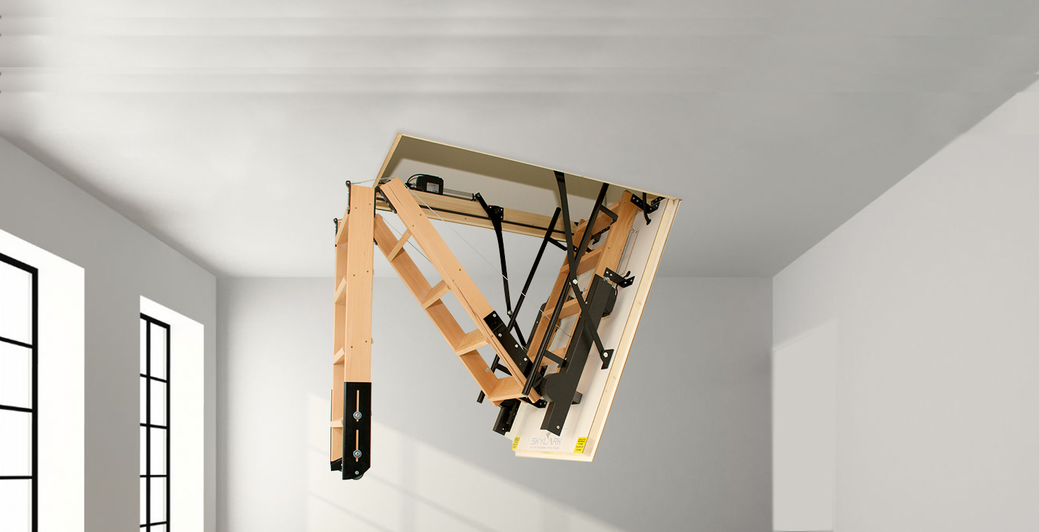 Skylark Stairs Electric Loft Ladder Remote Controlled Electric Attic Stairs Electric Loft Ladders Folding Loft Ladders From Skylark Electric Attic Stairs